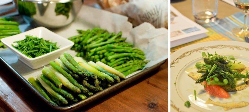 asparagus and grapefruit