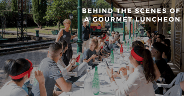 Behind the scenes of a gourmet luncheon