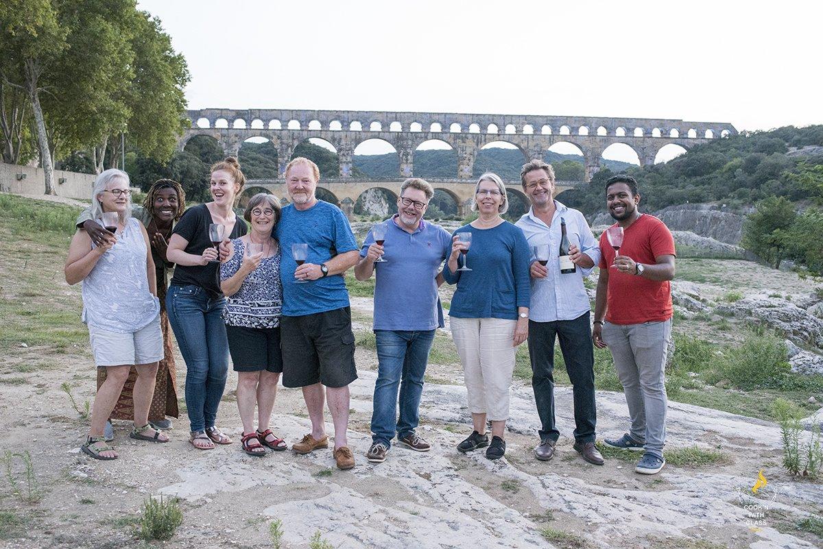 Pont Du Gard group photo
