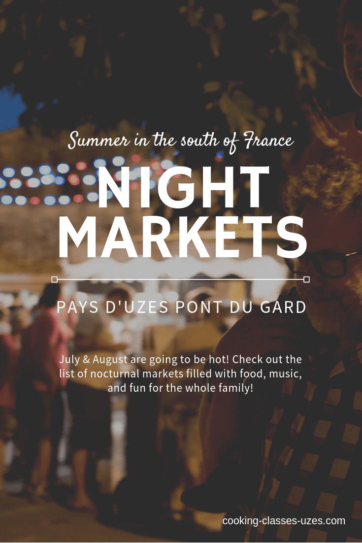 Night markets Uzes 2019